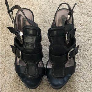Charles David Black Platform Shoes